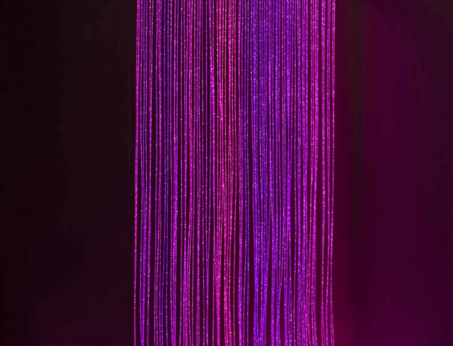 side glow curtain magenta