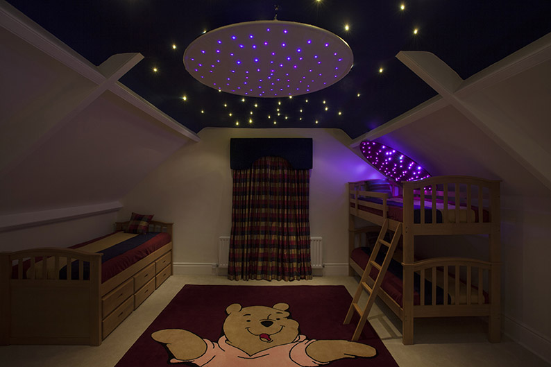 Childrens bedroom star ceiling lights